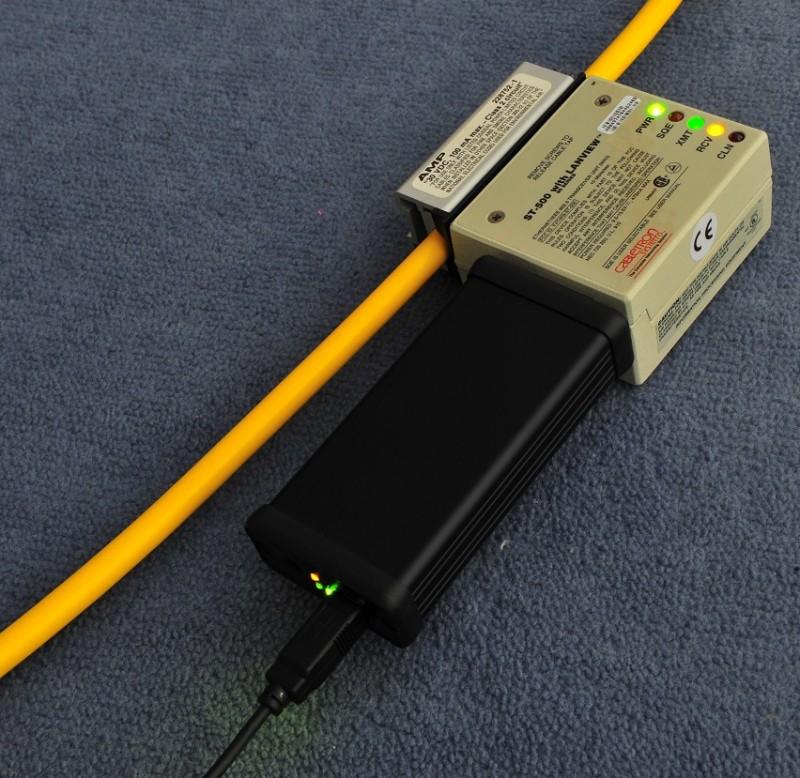 USB AUI Ethernet attached to MAU