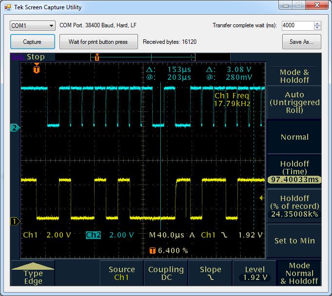 TDS3000 Screen capture