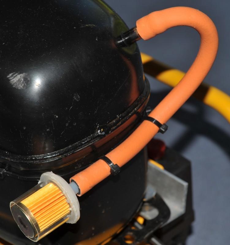 Fuel filter as air intake