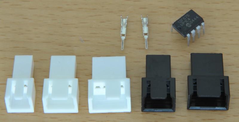 Compatible KK 100 male connectors