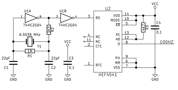 100hz square wave generator circuit